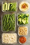 素食主义者膳食预习功课用煮熟的米 库存图片