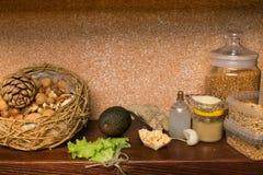 素食主义者蛋白质来源 健康概念的食物 免版税图库摄影