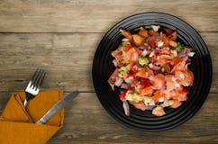 素食主义者食物 从蔬菜的沙拉 免版税库存图片