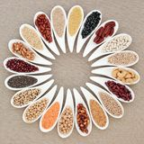 素食主义者高蛋白超级食物 库存照片