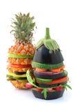 素食的汉堡 免版税库存照片