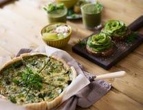 素食绿色饼 库存照片