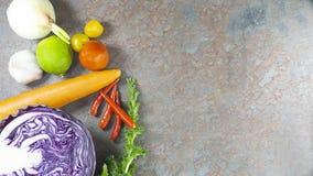 素食者沙拉,饮食,素食主义者,素食主义者食物,维生素快餐,顶视图,设计的拷贝空间 库存图片