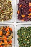 素食被分类的沙拉 库存图片