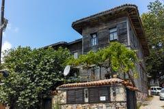 索佐波尔,保加利亚- 2016年7月16日:索佐波尔,布尔加斯地区老镇  免版税库存图片
