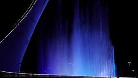 索契 奥林匹克公园 喷泉轻的展示  股票视频