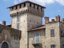 索姆马隆巴尔多,瓦雷泽,意大利:城堡 库存图片