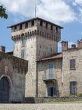 索姆马隆巴尔多,瓦雷泽,意大利:城堡 免版税库存照片