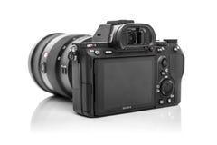 索尼阿尔法a7R III Mirrorless数字照相机 免版税库存照片