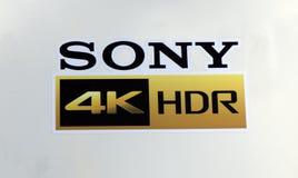 索尼4k HDR信件 免版税库存照片