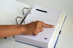 索引 免版税库存图片