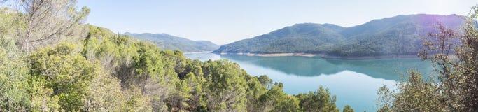 索拉纳de padilla监视, Tranco de Beas水库, nat的卡索拉 免版税库存图片