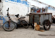 索维拉历史的口岸,摩洛哥 免版税库存图片