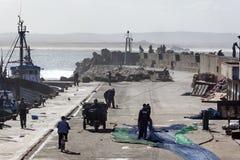 索维拉老乡情港口在摩洛哥 免版税库存照片