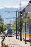 索非亚保加利亚狮子桥梁电车 库存照片