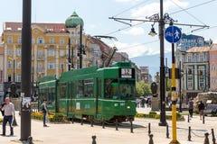 索非亚保加利亚狮子桥梁电车 免版税库存图片