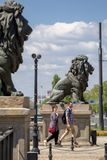 索非亚保加利亚狮子桥梁 图库摄影