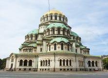 索非亚,保加利亚,亚历山大・涅夫斯基大教堂 库存照片