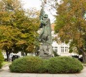 索非亚,保加利亚,对Paisiy Hilendarsky的纪念碑 库存图片