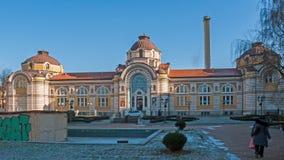 索非亚,保加利亚- 2016年12月20日:中央矿物巴恩-索非亚的历史博物馆 库存照片