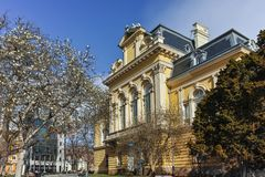 索非亚,保加利亚- 2018年3月17日:全国美术画廊王宫,索非亚大厦  免版税图库摄影