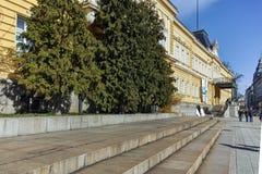 索非亚,保加利亚- 2018年3月17日:全国美术画廊王宫,索非亚大厦  图库摄影