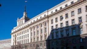 索非亚,保加利亚- 2016年12月20日:前共产党议院大厦在索非亚 免版税库存照片