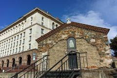 索非亚,保加利亚- 2018年3月17日:圣佩特卡教会惊人的看法在索非亚 图库摄影