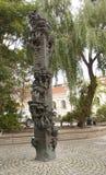 索非亚,保加利亚- 2017年10月09日:在街道上的纪念碑 库存图片