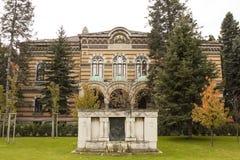 索非亚,保加利亚- 2017年10月09日:宗教教会法规房间大厦,修建在1912年 免版税库存图片