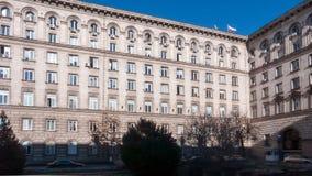 索非亚,保加利亚- 2016年12月20日:政府大厦在索非亚 免版税库存照片
