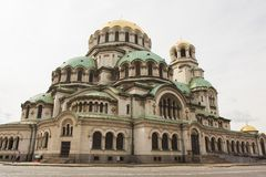 索非亚,保加利亚- 2017年10月06日:Alexan正统大教堂  免版税库存图片