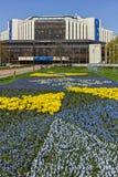 索非亚,保加利亚- 4月14日, 20F花园和国民劳动人民文化宫在索非亚 库存图片