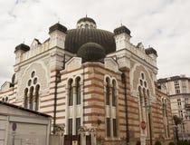 索非亚, BULGAIRA - 2017年10月09日:索非亚犹太教堂,修造在1909年 免版税库存照片