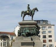 索非亚, libgrary,对国王救星的纪念碑 库存照片