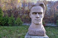 索非亚/保加利亚- 2017年11月:雕象在社会主义艺术博物馆  免版税库存图片