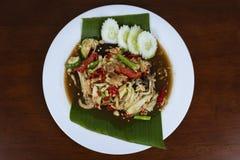 索马里兰胃泰国辣,泰国绿色番木瓜沙拉 库存照片