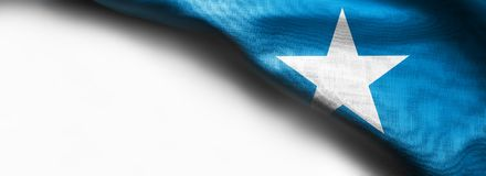 索马里的旗子白色背景的 免版税库存图片