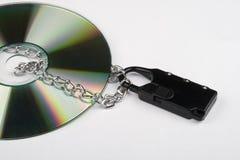 紧凑数据盘保护您 库存照片
