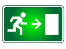 紧急出口符号 库存例证