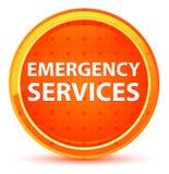 紧急情况服务自然橙色圆的按钮 向量例证