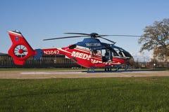 紧急直升机 免版税库存图片