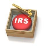 紧急联邦税务局药片红色提示 免版税库存照片
