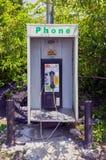 紧急路旁投币式公用电话摊箱子 库存图片