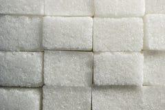 紧挨着被堆积的多块的白糖长方形形状砖纹理  免版税库存照片