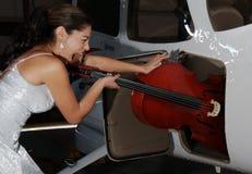 紧紧大提琴 免版税库存照片