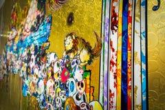 `紧贴与死亡和生活`秘密由村上隆保佑的狮子的图片 免版税库存照片