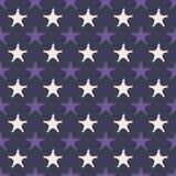 紫外海星无缝的样式 图库摄影