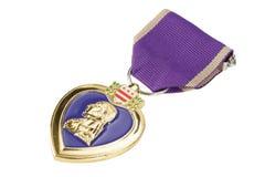 紫心勋章美国军事装饰 免版税库存照片