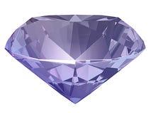 紫晶,尖晶石侧视图3D例证 库存图片